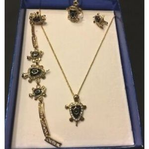 necklace set Turtle Brazilian Gold Plated 4pcs